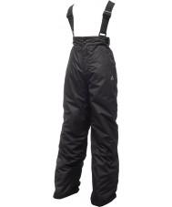 Dare2b DKW033-800026 Crianças reviravolta calças de neve preto - 26 polegadas
