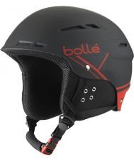 Bolle 31211 B-fun macia preto e vermelho capacete de esqui - 54-58cm