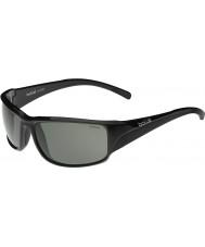 Bolle Keelback pretas brilhantes óculos polarizados TNS