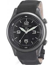 Elliot Brown 202-004-R06 Mens Canford mate couro preto relógio pulseira