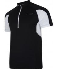 Dare2b DMT136-80040-XS Mens comover t-shirt camisa preta - tamanho xs