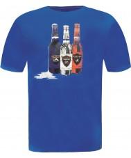 Dare2b DMT323-9PR50-S Mens skydiver garrafa t-shirt azul - tamanho s