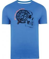 Dare2b DMT324-9PR40-XS Mens skydiver redutor t-shirt azul - tamanho xs
