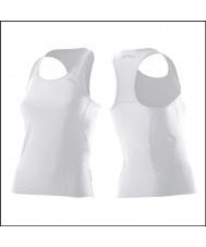2XU Ladies active white tri singlet