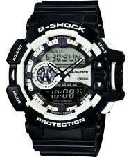 Casio GA-400-1AER Mens g-shock relógio cronógrafo preto branco