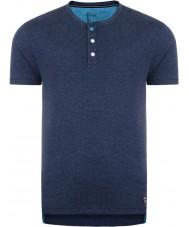 Dare2b DMT326-0D750-S Mens botão para cima t-shirt peacoat marga - tamanho s