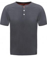 Dare2b Mens button up ebony marl t-shirt