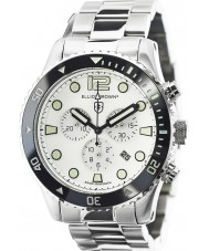 Elliot Brown 929-007-R01 Mens bloxworth prata relógio cronógrafo de aço