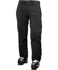Helly Hansen Calças de esqui pretas isoladas de velocidade masculina