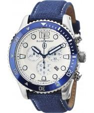 Elliot Brown 929-008-C01 Mens bloxworth tecido azul relógio cinta cronógrafo