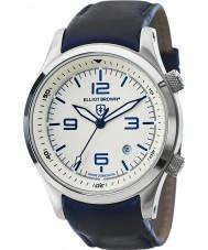Elliot Brown 202-001-L06 Mens Canford azul da correia de relógio de couro