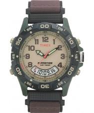 Timex T45181 creme Mens expedição marrom relógio de combinação
