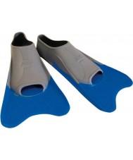 Zoggs 300395 barbatanas de formação azul e cinza ultra - uk tamanho 12