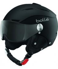 Bolle 31253 Backline viseira macio capacete de esqui preto e prata com viseira cinzenta - 59-61cm