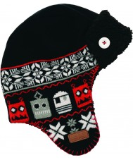 Dare2b DBC006-800C12 Meninos de esqui chapéu preto AVERT
