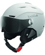 Bolle 31255 Backline viseira macio capacete de esqui branco e prata com viseira cinzenta - 56-58cm