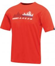 Dare2b T-shirt vermelho com fogo vermelho da cidade