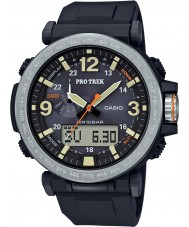 Casio PRG-600-1ER Mens pro trek movido a energia solar relógio digital preto