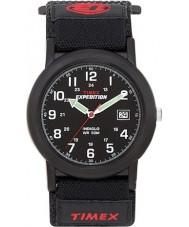 Timex T40011 Mens campista preto expedição relógio