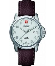 Swiss Military 6-4231-04-001 Mens soldado suíço couro marrom nobre pulseira de relógio