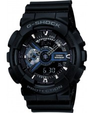 Casio GA-110-1BER Mens g-choque preto do combi relógio tempo do mundo