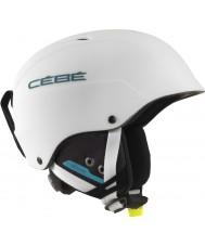 Cebe CBH174 Concurso branco fosco capacete azul ski - 62-64cm