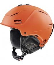 Uvex 5661538003 P1us laranja escuro mat capacete de esqui - 52-55cm
