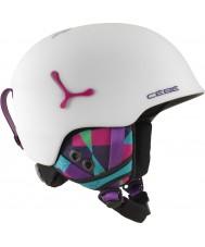 Cebe CBH188 Suspense deluxe fosco gráficos brancos capacete de esqui - 54-56cm