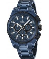 Festina F16973-1 Mens Chrono moto azul de aço relógio cronógrafo