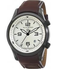 Elliot Brown 202-009-L05 Mens Canford couro marrom pulseira de relógio