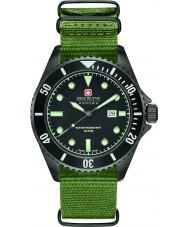 Swiss Military 6-4279-13-007 Mens leão marinho nylon verde relógio de pulseira