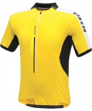Dare2b DMT134-0QX40-XS Mens Astir brilhante t-shirt camisa amarela - tamanho xs