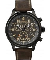 Timex T49905 Mens preto branco campo expedição Cronógrafo