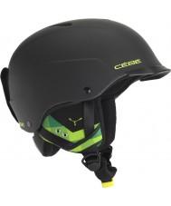 Cebe CBH99 Concurso visor fosco capacete preto e verde ski - 55-58cm