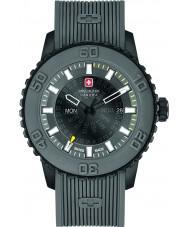Swiss Military 6-4281-27-007-30 Mens penumbra cinzenta relógio pulseira de silicone