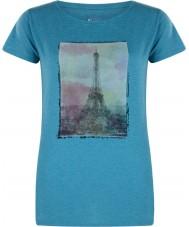 Dare2b Ladies tower acima do esmalte blue marl t-shirt