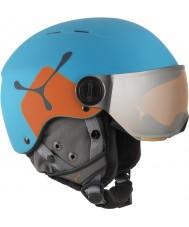 Cebe CBH209 laranja azul jr Fireball capacete de esqui - 49-54cm