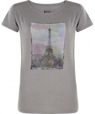 Dare2b Ladies tower acima da cinza grey marl t-shirt