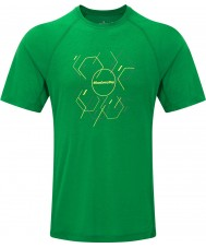 Ronhill RH-002472Rh-00236-S Mens t-shirt passo hexágono ss