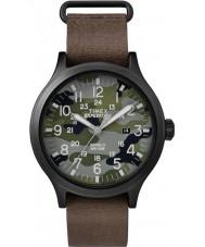 Timex TW4B06600 Mens olheiro pulseira de relógio de couro marrom