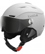 Bolle 21267 Backline viseira macio capacete de esqui branco e prata - 54-56cm