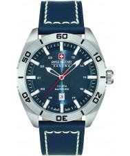 Swiss Military 6-4282-04-003 Mens champ couro azul relógio de pulseira