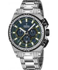 Festina F16968-3 Mens Chrono moto prata relógio cronógrafo