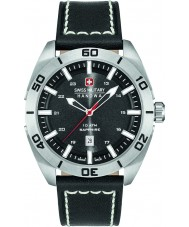 Swiss Military 6-4282-04-007 Mens champ couro preto relógio pulseira