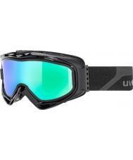 Uvex 5502132126 G.gl 300 descolar preto fosco - óculos espelho esqui verdes com lente de substituição fumo azul