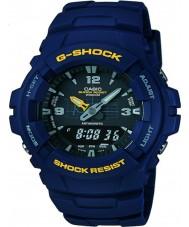 Casio G-100-2BVMUR Mens g-choque azul resina relógio de pulseira