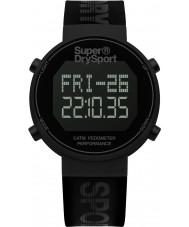 Superdry SYG203BB Mens digi pedômetro silicone preta relógio de pulseira