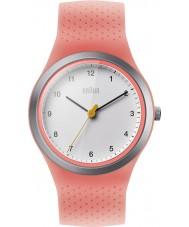 Braun BN0111WHPKL Senhoras esportes neon pêssego pulseira de silicone relógio
