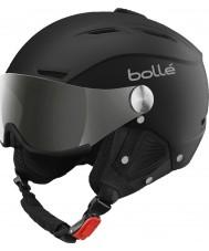 Bolle 31156 Backline viseira macio capacete de esqui preto e prata com arma de prata e viseira de limão - 59-61cm