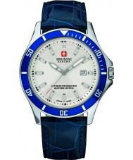 Swiss Military 6-4161-2-04-001-03 Mens flagship couro azul relógio de pulseira